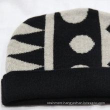 Knit custom pom pom beanie/70% wool 30% cashmere beanie hat/jacquard knitted hat