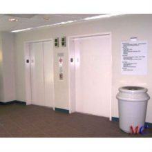 Hospital, máquina, sala, cama, elevador, pintado, folha