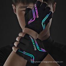 High Quality SBR Shock Absorption Palm Pad Breathable Mountain Bike Mountain Bike Riding Gloves Half Finger Gloves