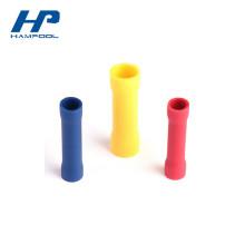 A bala que recebe o terminal terminal do encolhimento do latão e do PVC encolhe o tubo que encobre a bucha de solda