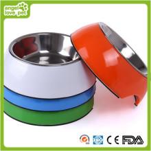 Mélamine en gros bol en chien en acier inoxydable (HN-PB928)