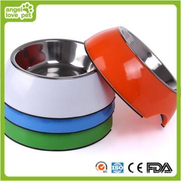Melamin Großhandel Edelstahl Hundeschüssel (HN-PB928)