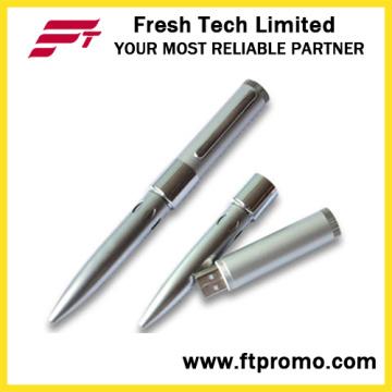 Seis furo caneta estilo flash drive USB (d401)