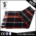 wholesale tartan woven men cashmere scarf