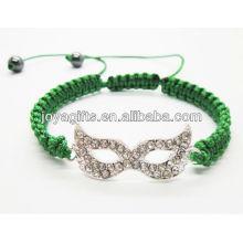Silver eyeshade alloy shambala bracelet