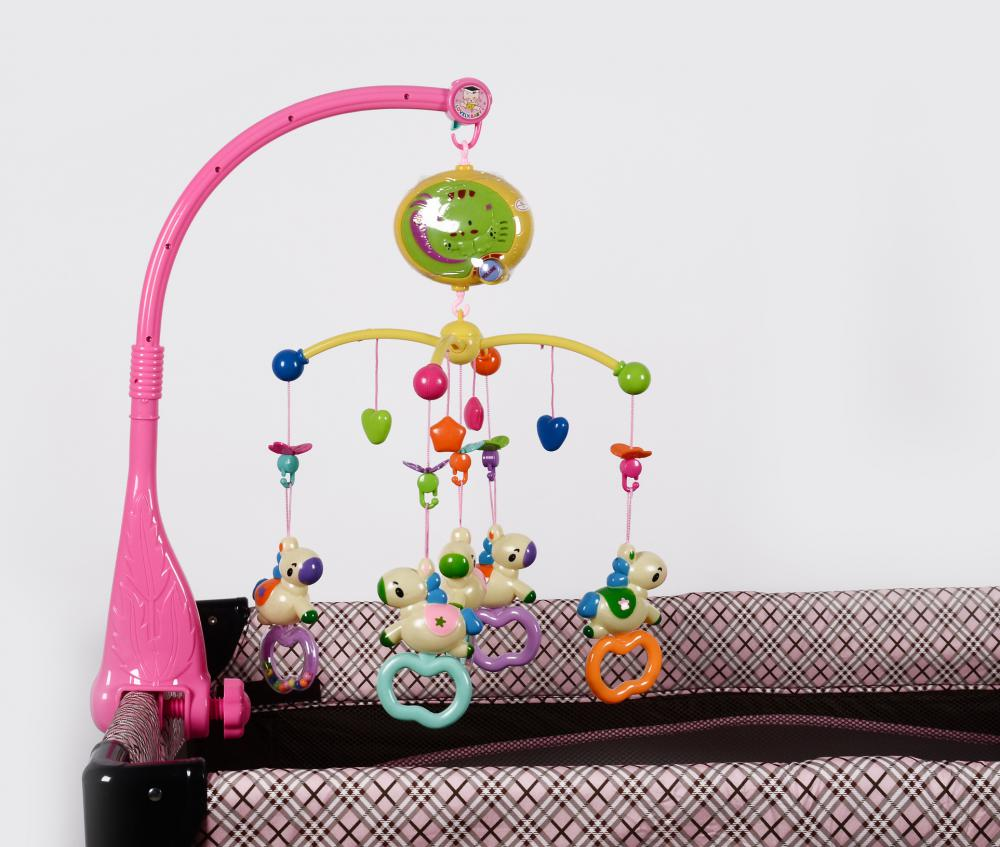 Multi- Functional Music Baby Bed Rolling