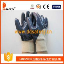 Ce Qualität Baumwoll-Liner Nitril beschichtet auf Palm und Finger Handschuhe Dcn306