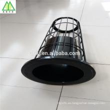 barato jaula orgánica del bolso del filtro del silicón con el venturi para el colector de polvo de la central eléctrica