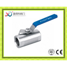 One Piece Ss Manual Ball Valve with Female Threaded Connection