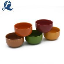 Tazón de arroz vendedor caliente de la sopa de cerámica de la decoración de la boda del color sólido