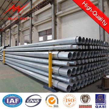 12m 500dan-1500dan postes de acero para líneas de 30kv