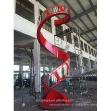 2015 modificado para requisitos particulares película patrón de la película escultura del metal de la escultura del arte con la fuente y el color del LED