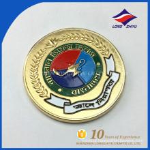 Design personalizado ouro antigo ouro banhado moedas comemorativas