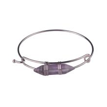 Hexagon Prism Amethyst Natural Gem Bracelet Bracelet