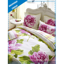 3PCS Floral Cotton Duvet Cover Set