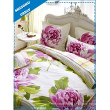 3pcs conjunto de capa de edredon de algodão floral