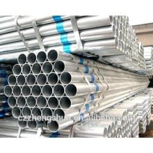 Китай горячая оцинкованная стальная труба / оцинкованная бесшовная труба / оцинкованная труба ERW / BS1387-1985 / Q235 / SS400