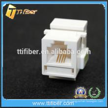 Weiß Farbe RJ11 Cat3 Keytone Jack Telefon
