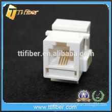 White Color RJ11 Cat3 Keytone Jack Telephone