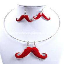 Mode, niedlich, schön, schön, Ruhm, Schnurrbart Halskette Set (XJW12599)