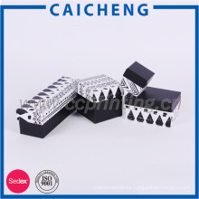Caja de regalo de papel acanalado del logotipo de la marca de fábrica del precio de fábrica