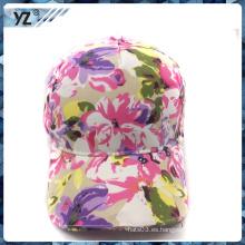 Flor impresa personalizada gorra de béisbol LED