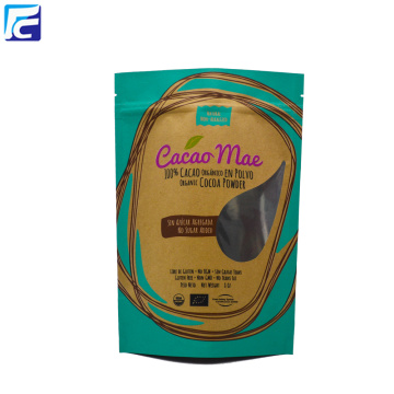 Zipper lock food Kraft paper bag Aluminum bag