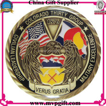 Metal 3D Challenge Coin with Antique Color