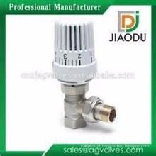 China alta qualidade de fabricação de venda melhor CuZn39Pb1 válvula de radiador de latão com lockshield cromado