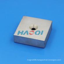 75X75X25mm Neodimio NdFeB countersunk neodymium magnet custom