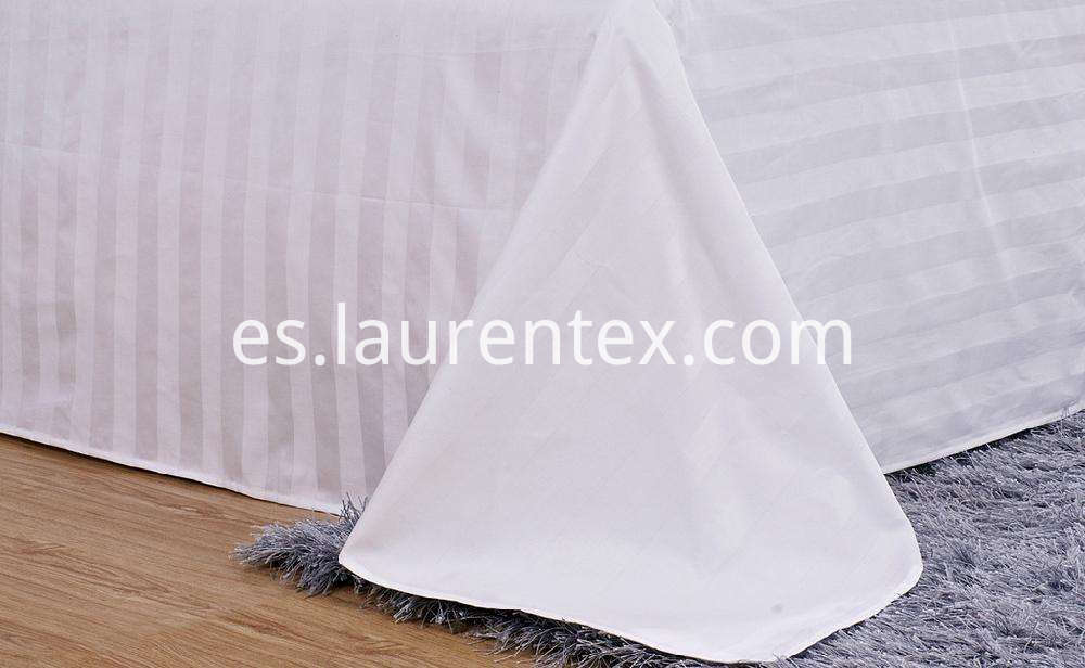 3cm stripe cotton white sheets