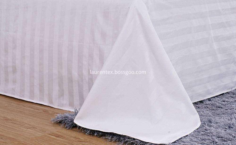 3cm stripe cotton white sheets