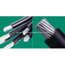 Conductor de aluminio que exporta caliente XLPE aislamiento cable aéreo del paquete para el proyecto