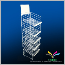 5 Tiers Floor Metal Wire Display Rack para loja de doces Pushing Sale