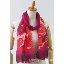 Newest printing long polyester casual woven scarf