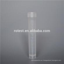 Consumibles de laboratorio Tubos de crio de plástico esterilizados.
