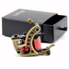 Upgrade High Quality CNC Carved Brass 12 Wrap Coils Tattoo Machine Gun Shader
