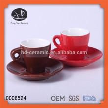 Chaozhou fábrica de porcelana de gres taza de café, sonar, pastel de taza