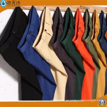 Pantalones de algodón de la tela cruzada del color de la tela cruzada de los hombres del OEM