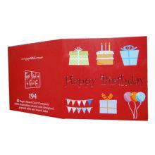 Custom Paper Words Happy Birthday Greeting Card