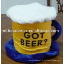 Пивная бочка карнавальная шапка