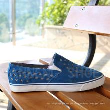 Модный стиль Резиновая подошва PU Верхняя вулканизированная обувь Snc-03053