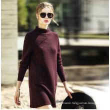 Women′s Fashion Cashmere Sweater Turtle Neck 16brdw002-1
