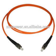 Multi mode, Simplex, 3m, ST / PC, PVC, 2mm, cordon de raccordement fibre optique extérieur avec câble à fibre optique monomode