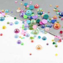 Großhandel 12mm Kunststoff flach zurück Perlen FP01