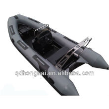 Barco inflável de fibra de vidro rígida 8 pessoa