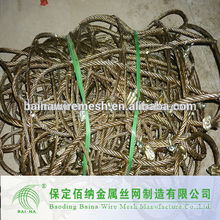 metal rope mesh for stone safety