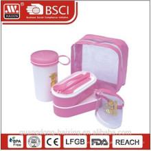 Розовый несколько обед Box Продовольственная контейнер