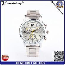 Yxl-669 preiswerte Chronograph-Mann-Dame-Förderung-Edelstahl-Uhr