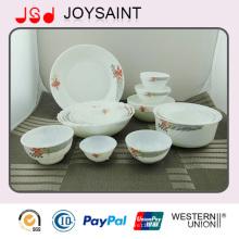 Heißer verkaufender Opalglaswarensatz für Hotel oder täglichen Gebrauch